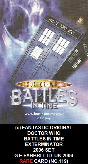 DR WHO BATTLES IN TIME NO 119 GUARD 2  RARE